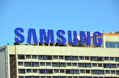 samsung: Samsung logo. Samsung Group is a South Korean multinational conglomerate company headquartered in Samsung Town, Seoul Editorial
