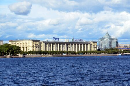 stalin empire style: Sailors house in St Petersburg; The house was built in 1931-1933 for the high command of the Military Navy of the USSR