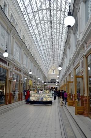 passage: Interior of shopping mall Passage in Saint-Petersburg Editorial