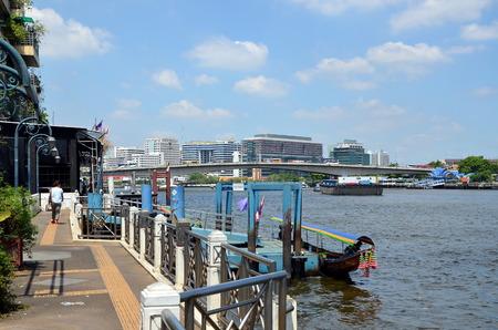phraya: Pier on the Chao Phraya River in Bangkok, Thailand