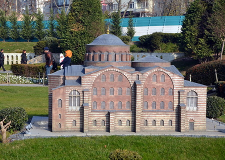 turkish bath: Scale model of a Turkish bath or hammam at Miniaturk park in istanbul, the largest miniature park in the world. The park contains 105 buildings Editorial
