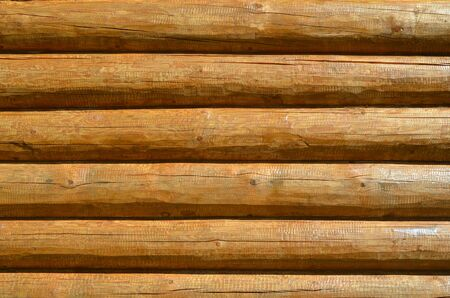 Log wall, close-up. Background