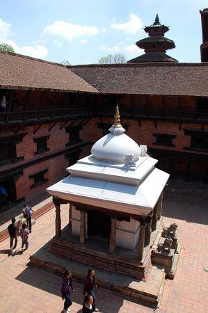 darbar: Gallery in Durbar Square (top view), Patan, Nepal