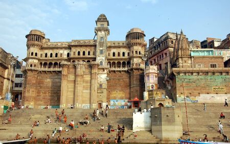 varanasi: Embankments of the Ganges, Varanasi, one of the holy cities of India
