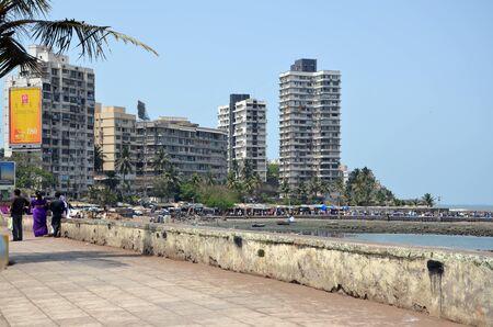 embankment: Embankment in Mumbai, India Editorial