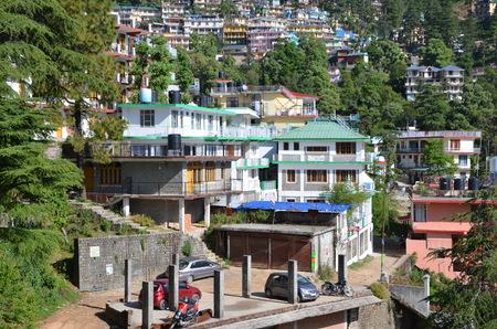 himachal pradesh: Cityscape of  Dharamsala. Northern India, Himachal Pradesh