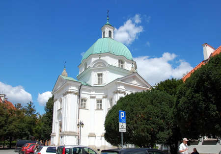 casimir: Roman Catholic Church of St Casimir located next to Royal Castle in Warsaw, Poland