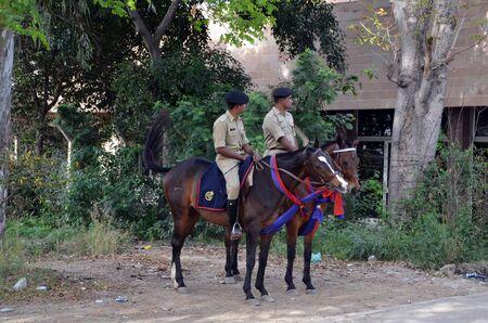 amritsar: Horse police in Amritsar, India Editorial
