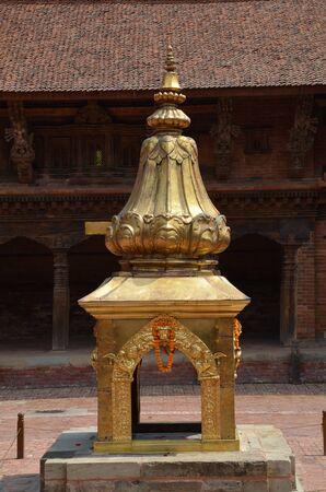nepali: Ancient Hindu stupa in Lalitpur (Patan), Nepal