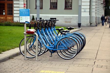 rentals: Velogorod. Bicycle parking in St. Petersburg, Russia