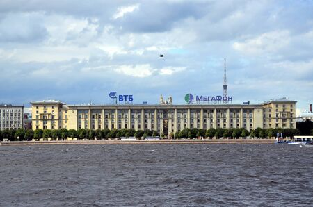 stalin empire style: Sailors house in St Petersburg. The house was built in 1931-1933 for the high command of the Military Navy of the USSR Editorial