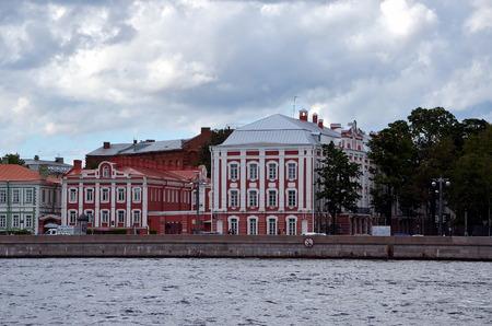 st  petersburg: St. Petersburg State University, one of the most beautiful ancient buildings in St. Petersburg