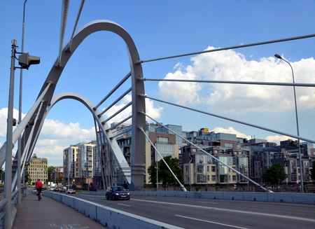shrouds: Lazarevsky bridge in Saint-Petersburg, Russia