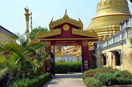 gautama buddha: Entrance to buddhist monastery in Kushinagar. It is important Buddhist pilgrimage site, where Buddhists believe Gautama Buddha attained Parinirvana after his death