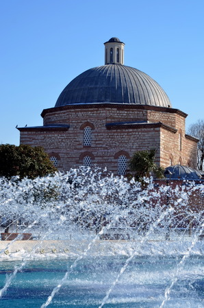 the distinguished: Ayaysofya turkish bath next to the famous Hagia Sofia mosque. A turkish bath or hammam is a variant of a steambath, distinguished by a focus on water