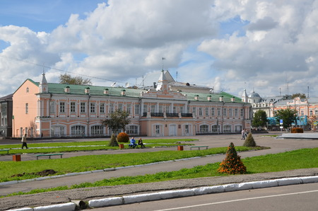 duma: The historic building of the City Duma in Vologda. Now in the building is a music school. It is an architectural monument of federal significance Editorial