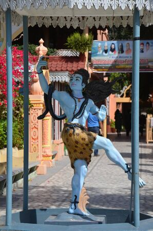 Dancing Shiva. Sculpture in Rishikesh, India, the holy city for hinduists