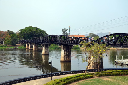 means of transport: The Bridge Over the River Kwai in Kanchanaburi, Thailand