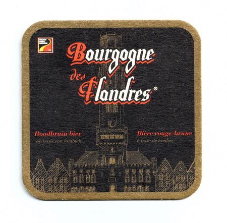 Coaster (beer mat) advertising beer Bourgogne des Flandres Editorial