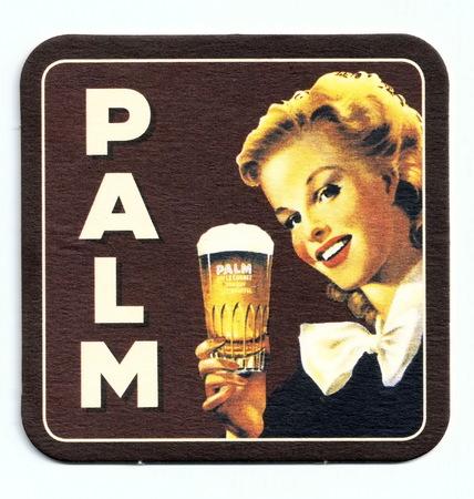 Coaster (beer mat) advertising beer Palm