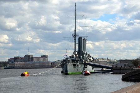 Legendary Aurora cruiser, St. Petersburg, Russia