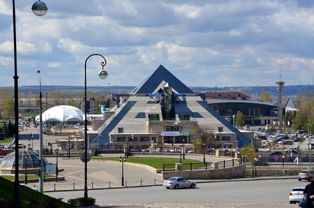 View on a shoping mall and entertaining complex the Pyramid, Kazan