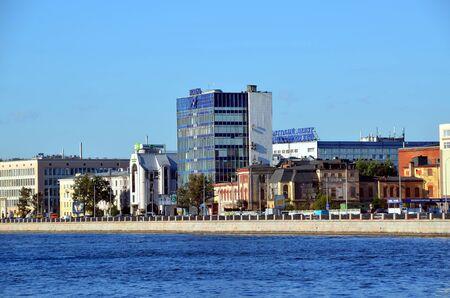 SAINT-PETERSBURG, RUSSIA - AUGUST 20, 2015:  View on  business center Nobel in St Petersburg Editorial