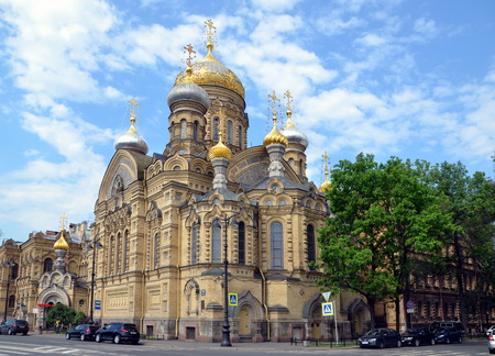 ST-PETERSBURG, RUSSIA - JUNE 5, 2013 - Church of Assumption of Blessed Virgin Mary in St-Petersburg