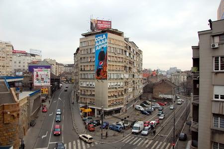 ベオグラード、セルビア - 2012 年 1 月 12 日 - は、ベオグラード、セルビアの首都の平面図します。