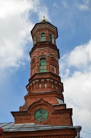 Minaret of  Bornay Mosque, also spelled Burnayevskaya Mosque, built in 1872  in Kazan, Tatarstan, Russia