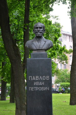 SAINT-PETERSBURG, RUSSIA - JUNE 27, 2017 - Monument to Pavlov Ivan Petrovich, St. Petersburg. He was a Russian physiologist known primarily for his work in classical conditioning Editorial