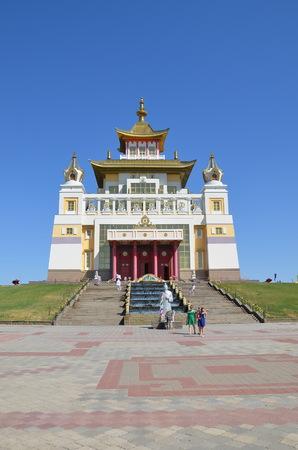 ELISTA, KALMYKIA, RUSSIA - JULY 28, 2017 -   Buddhist complex  Golden Monastery of Buddha Shakyamuni