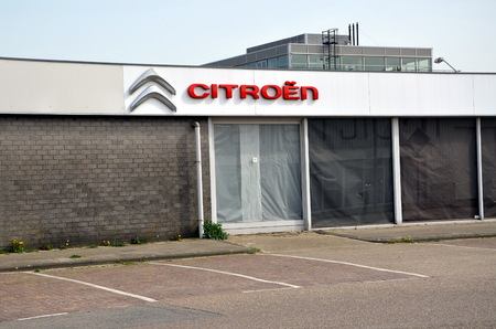 AMSTERDAM, HOLLAND — NETHERLANDS — APRIL 8, 2018: Citroen car showroom in  Amsterdam, Holland Editorial