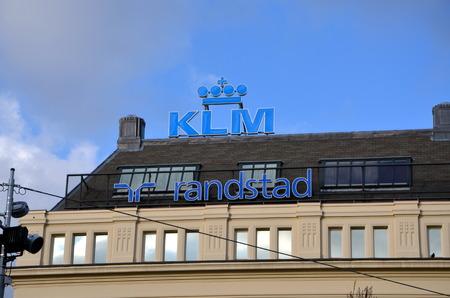 AMSTERDAM, HOLLAND — NETHERLANDS — APRIL 5, 2018: KLM Randstad. Office of KLM Royal Dutch Airlines in Amsterdam, Holland