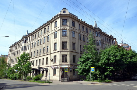 SAINT-PETERSBURG, RUSSIA - MAY 27, 2018 - City views of St. Petersburg, Russia. Former profitable house