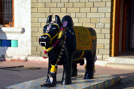 Sculpture of a sacred cow. Rewalsar, India