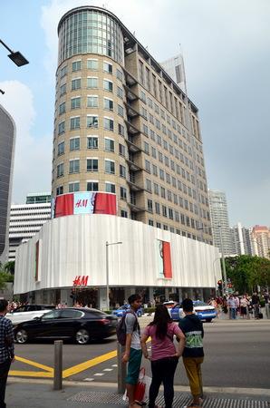 SINGAPORE, SINGAPORE - APRIL 25, 2014: H&M store in Singapore Editorial
