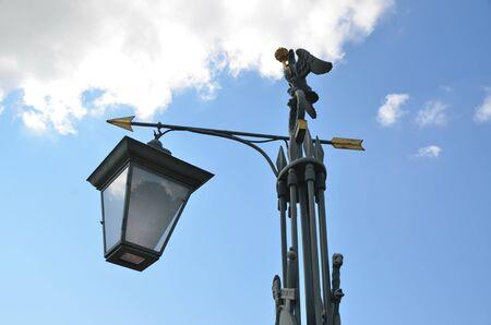 Lantern on the John's bridge in St. Petersburg, Russia. The bridge was built in 1706