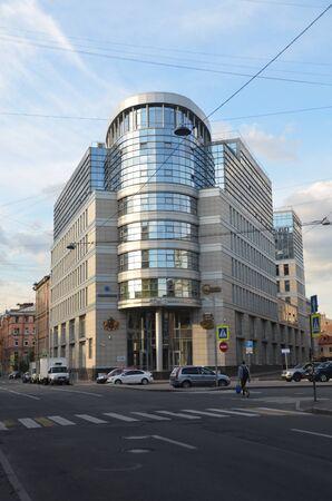 SAINT-PETERSBURG, RUSSIA - JULY 8, 2019 - Business center Stels. St. Petersburg, Russia