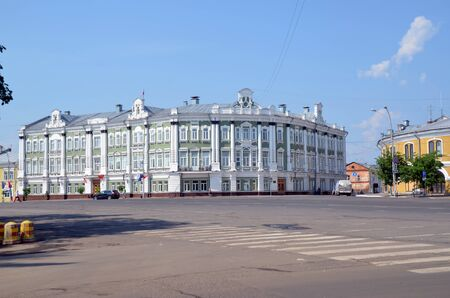 VOLOGDA, RUSSIA - JUNE 8, 2019: Building of Vologda administration, Russia. Vologda is a city and the administrative, cultural, and scientific center of Vologda Region, Russia