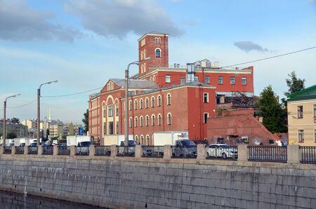 SAINT-PETERSBURG, RUSSIA - JULY 8, 2019 - Creative space TKACHI (Weavers), Former New Textile Manufactory in St. Petersburg, Russia