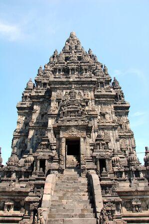 Prambanan temple near Yogyakarta on Java island, Indonesia. Temple of Vishnu