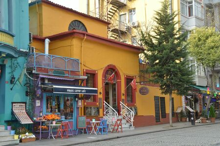 ISTANBUL, TURKEY - DEC 22, 2018 - Maya's corner cafe in Istanbul, Turkey