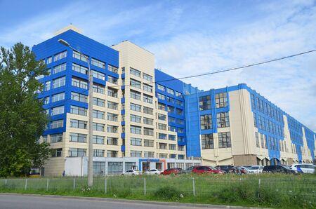 SAINT-PETERSBURG, RUSSIA - AUG 13, 2019 - Business center Dominat in St. Petersburg, Russia Editorial
