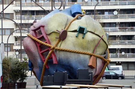 BERLIN, GERMANY - APRIL 13, 2019 - Urban sculpture in Berlin, Germany