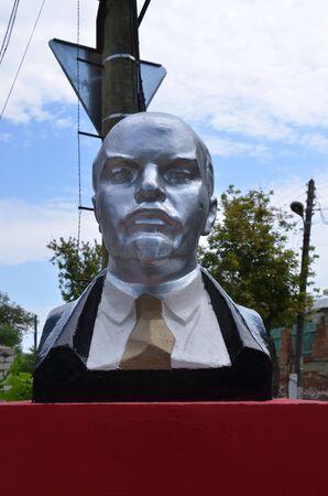 ASTRAKHAN, RUSSIA - JULY 31, 2017 - Monument to V.I. Lenin in Astrakhan Editorial