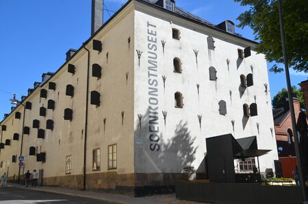 STOCKHOLM, SWEDEN - AUG 6, 2018 - Cityscape of Stockholm, Sweden. Museum of Performing Arts (Scenkonstmuseet)
