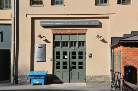 STOCKHOLM, SWEDEN - AUG 7, 2018 - Cityscape of Stockholm, Sweden. The Royal Swedish Ballet School Éditoriale