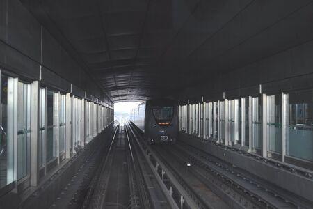 Dubai Metro. The metro tunnel Dubai, United Arab Emirates