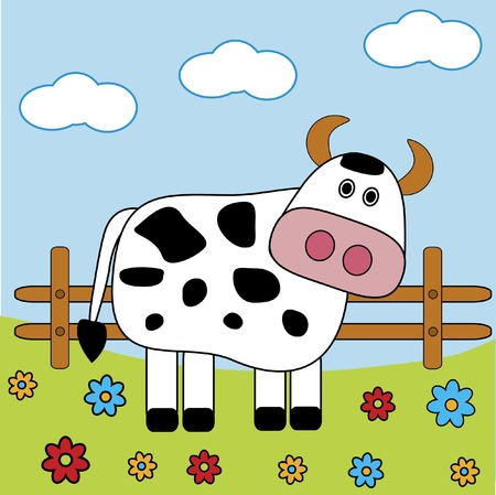 farm animal cartoon: Cow